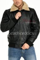 Leather Jacket With Fur Collar 7