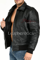 Leather Jacket With Classic Collar 6