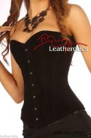 Luxury Black Velvet Tight Lacing Steel Boned Corset Basque
