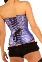 Heavy Brocade silk Corset - back