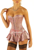 Tight lacing boned corset