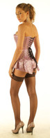 Long back lacing pink corset