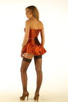 Corseted Skirt Skirted Corset Full Steel Boned Tight Lacing back