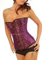 purple overbust corset