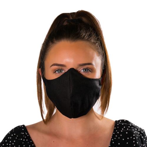 Unisex Adjustable Face Masks - Black