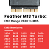 Feather M13 Turbo 512GB NVME SSD for MacBook Air and Macbook Pro mid 2013 and newer