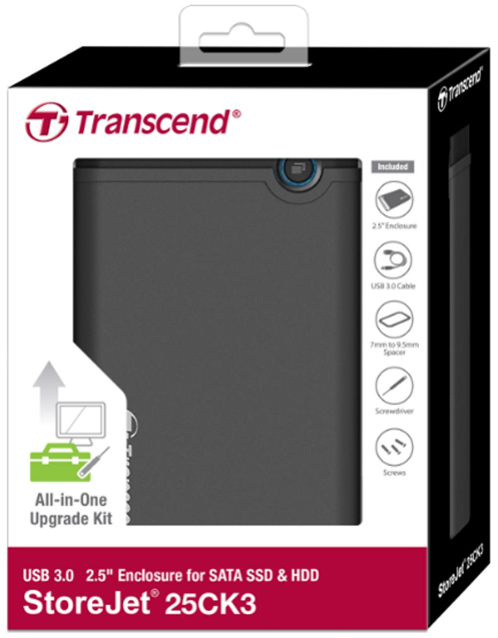 Transcend Portable Storage for PC or laptop , SSD/HDD Upgrade Kit (SJ25CK3)