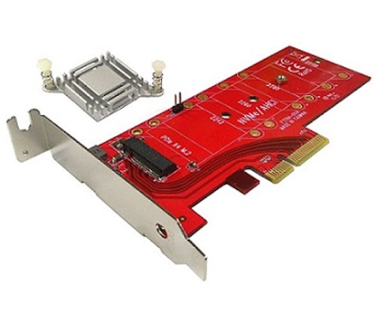 Lycom DT-129A, PCIe 3.0 x4 Carrier Adapter for M.2 NVMe 110mm High Power SSD