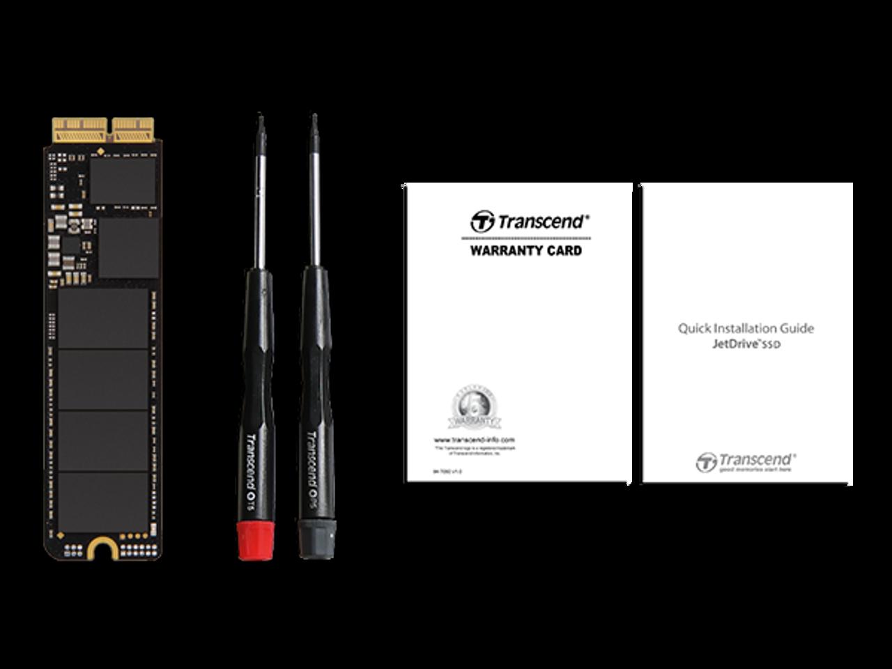 Transcend 240GB JetDrive 820 PCIe Gen3 x 2 Solid State Drive TS240GJDM820