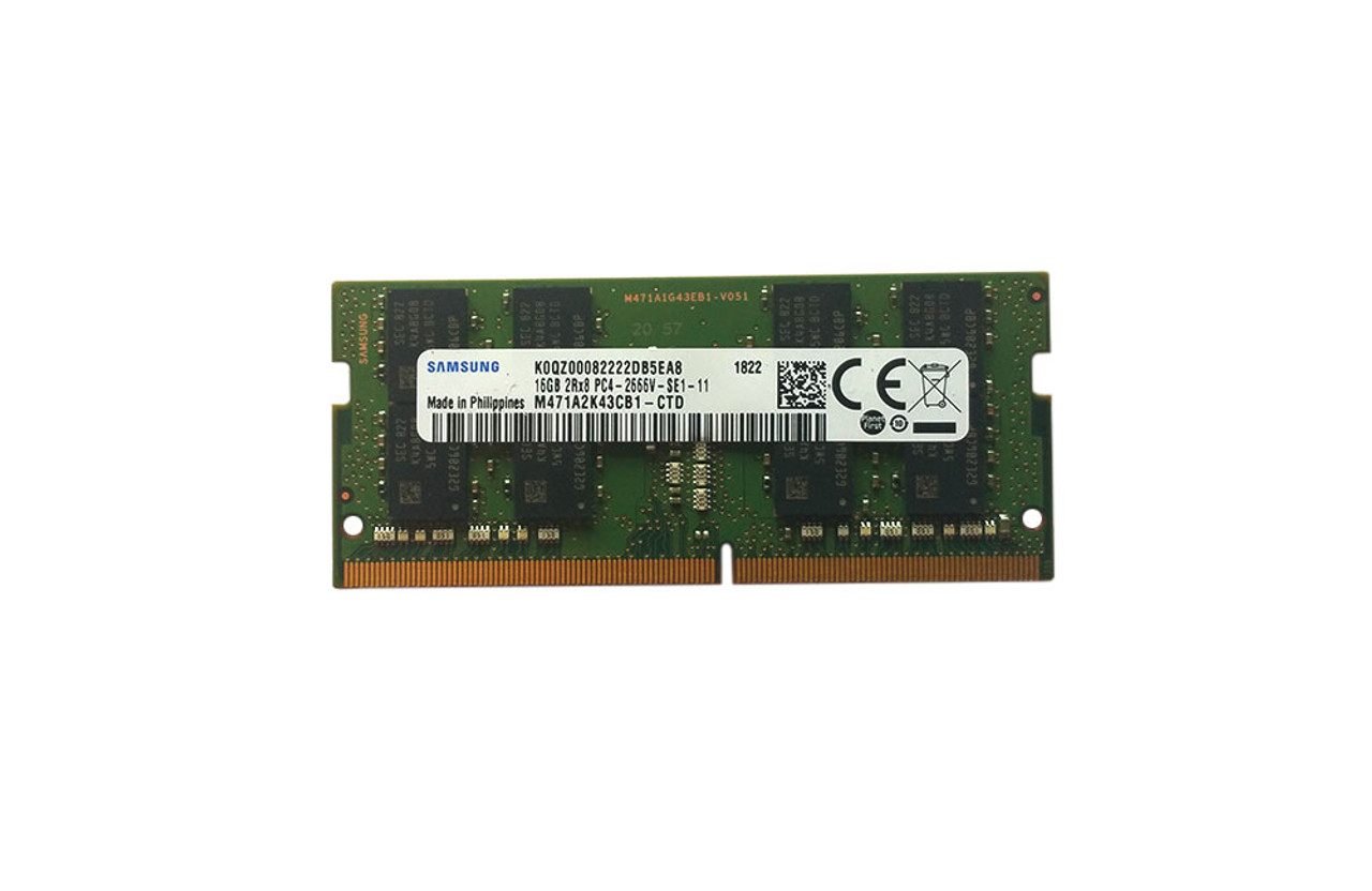 Samsung 16GB DDR4 PC4-21300, 2666MHZ, 260 PIN SODIMM M471A2K43CB1-CTD