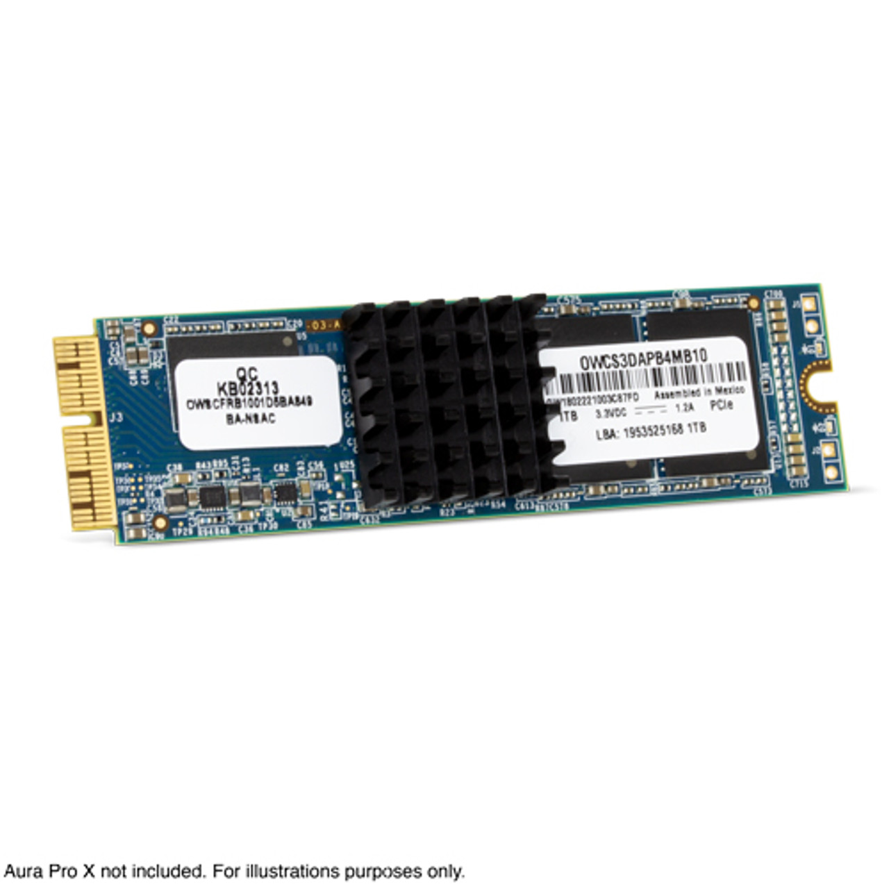 OWC Aura Pro X Heat Sink  For Mac Pro (2013) Installs