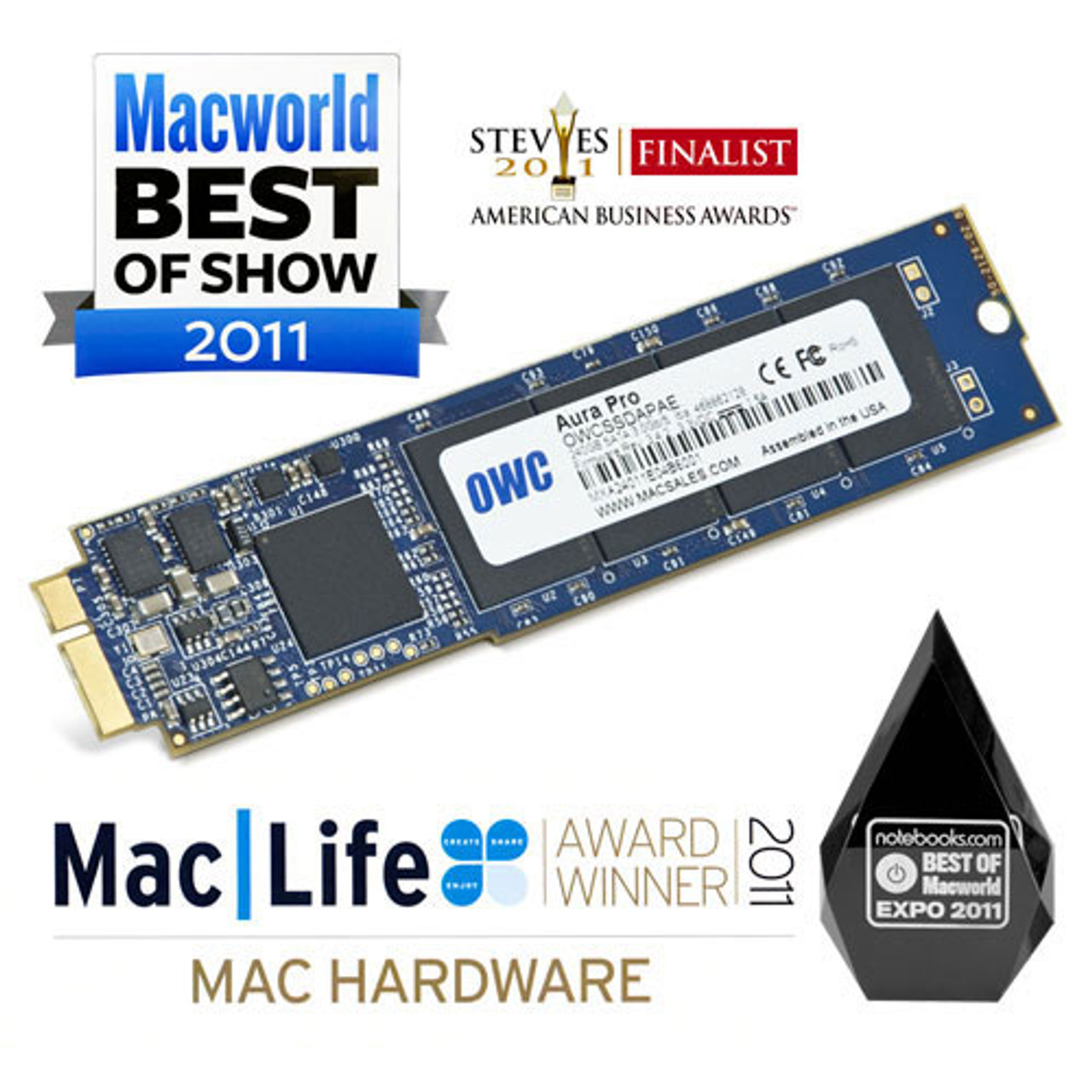 OWC 1TB Aura Pro 6G Solid State Drive with upgrade kit for MacBook Air (Late 2010 - Mid 2011)