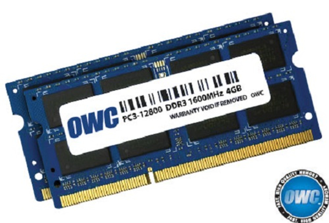 OWC ram 8GB (2 x 4GB) 204-pin SODIMM DDR3 PC3L-12800 1600MHz 1.35v memory module for Mac