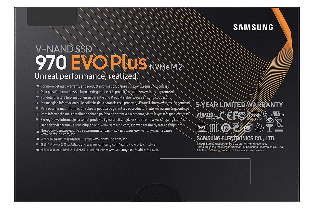 Samsung 970 EVO Plus 250GB M.2 NVMe Solid State Drive SSD