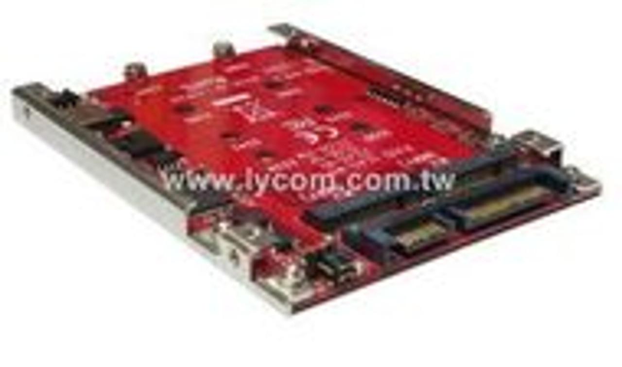 """Lycom DT-128,Hardware RAID 2x M.2 SATA SSD to 2.5"""" 7mm SATA III SSD"""