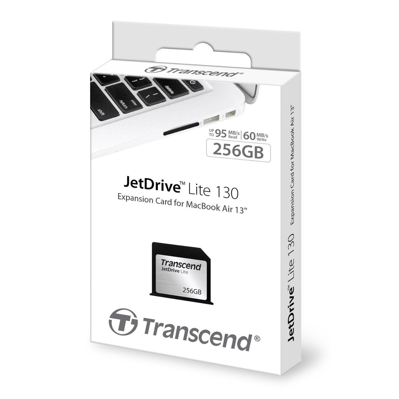 JetDrive Lite 130 removable storage expansion card 256GB for Macbook Air late 2010, mid 2011, 2012, 2013 and early 2014 ( TS256GJDL130)