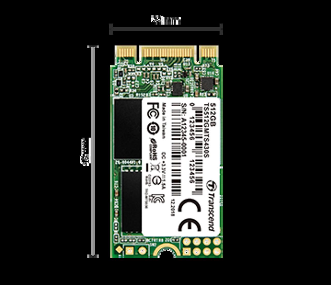 Transcend 128GB M.2 SATA III 430S series SSD (2242)