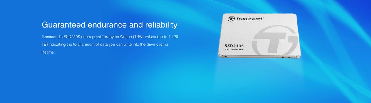 Transcend 512GB 2.5-inch SATA III 6G 3D NAND 230S series SSD
