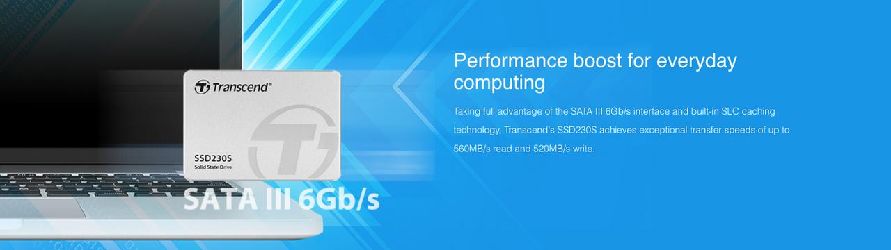 Transcend 256GB 2.5-inch SATA III 6G 3D NAND 230S series SSD