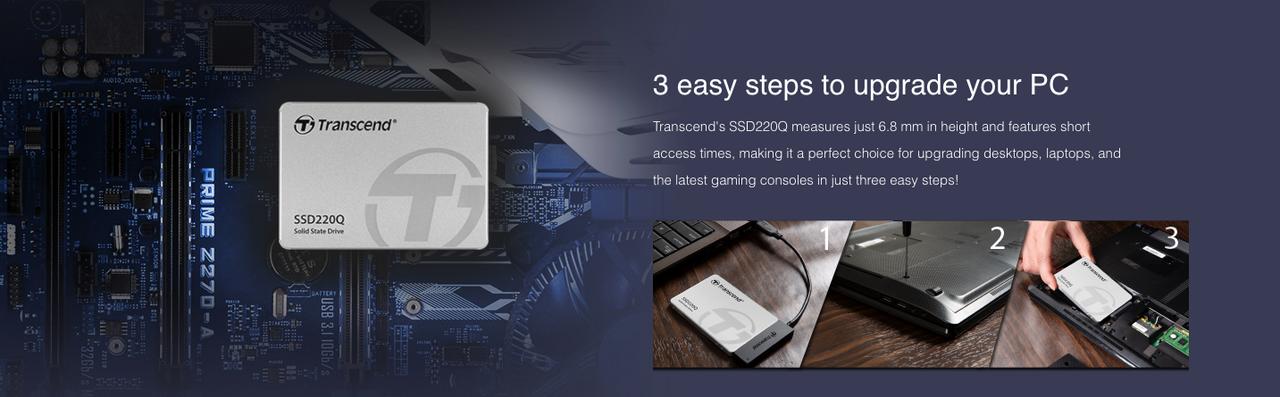 Transcend 2TB 2.5-inch SATA III 6G QLC 220Q series SSD