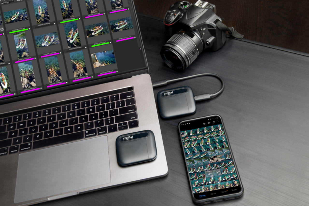 Crucial X6 2TB USB 3.2 Gen-2 Portable SSD