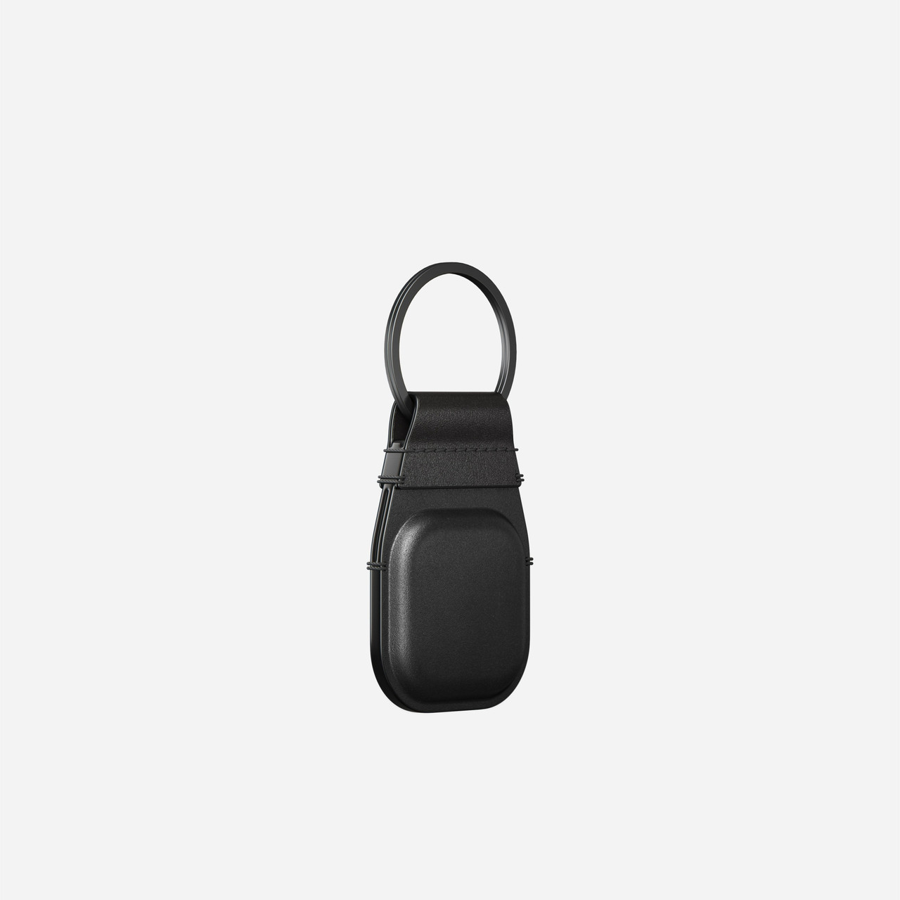 Nomad Keychain - for AirTag Leather Keychain Horween Leather - Black
