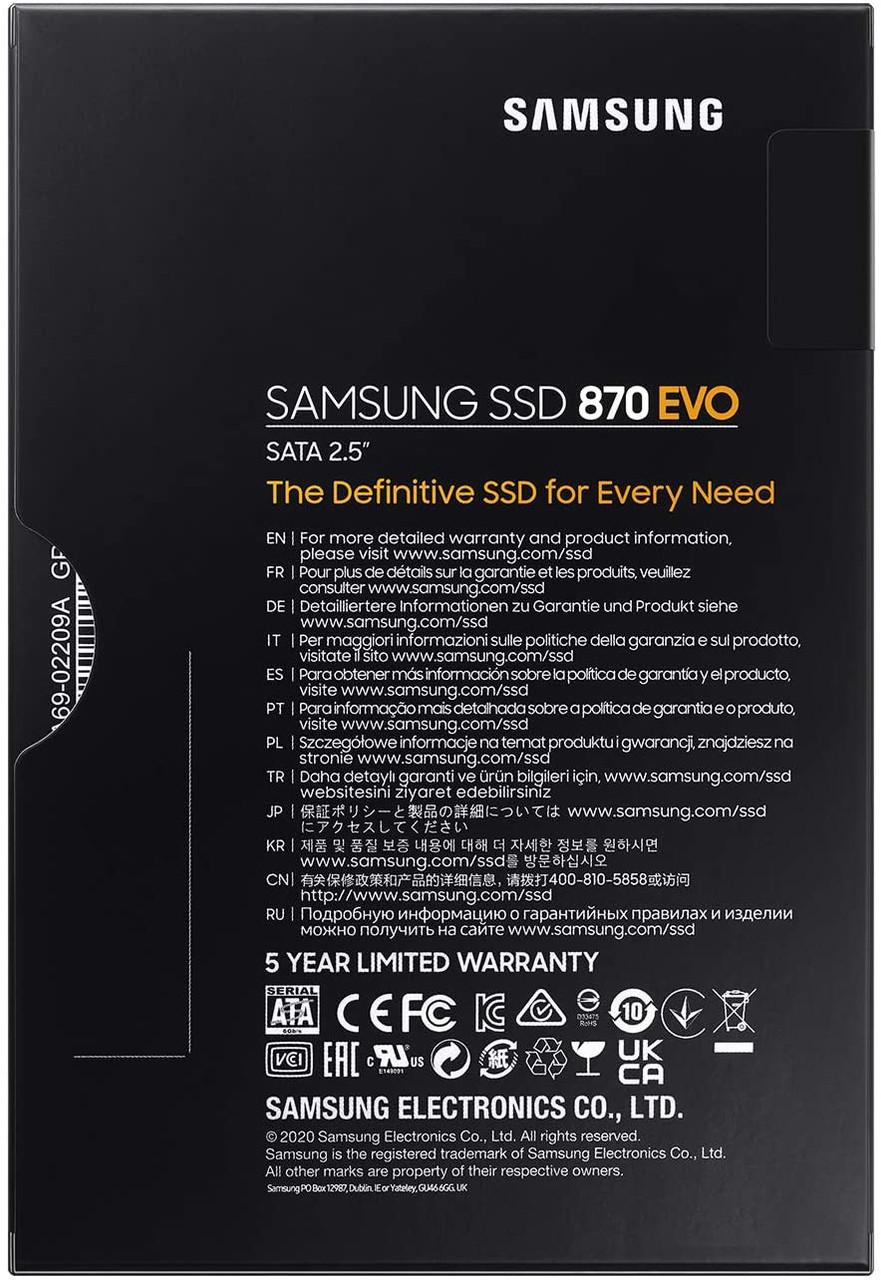 Samsung 870 Evo 500GB 2.5-inch SATA III 6G Magician software solid state drive