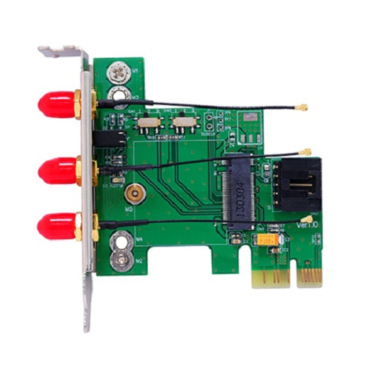 Bplus M2P2H-7260 : M.2 Wireless Card to PCI Express Adapter, 2.4/5.0 GHz with Intel wireless AC 7260NGW/7260NGWGR card