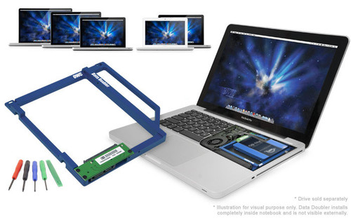 OWC Data Doubler Optical to SATA Drive Converter Bracket Solution for selected  Apple laptop models