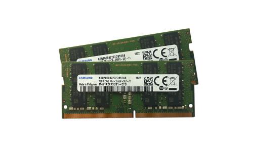 Samsung 32GB kit (2 x 16GB) DDR4 PC4-21300 2666MHZ 260 PIN SODIMM 1.2V CL 19 laptop ram memory module