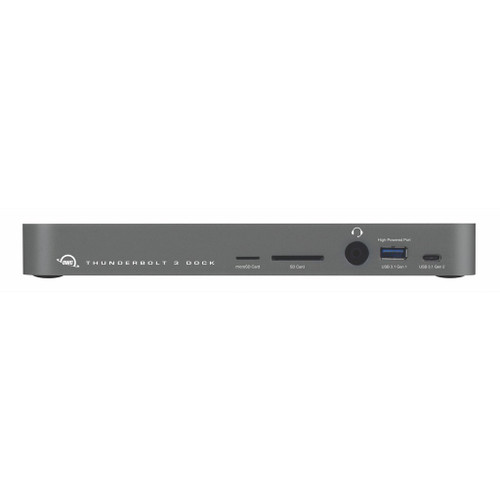 OWC 14-Port Thunderbolt 3 Dock with Cable - Space Gray - EU 2 Pin Plug Type F