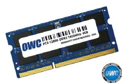 OWC ram 4GB 204-pin SODIMM DDR3 PC3L-12800 1600MHz 1.35v memory module for Mac