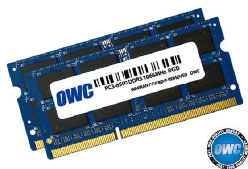 OWC ram 16GB (2 x 8GB) 204-Pin SODIMM PC3-8500 DDR3 1066MHz memory module for Mac