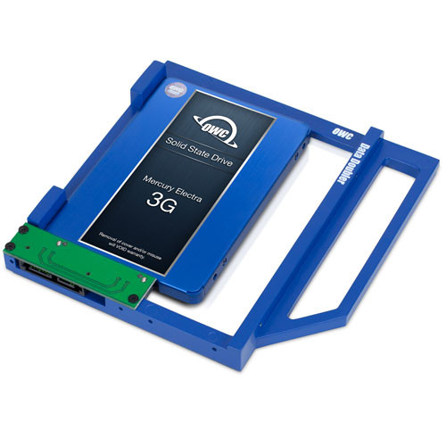 250GB OWC Mercury Electra 3G SSD and Data Doubler (DVD drive to SSD replacement) for select 2009- 2011 21.5-inch iMacs