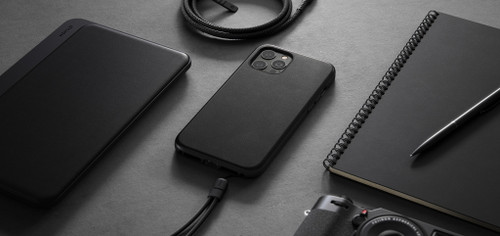 Modern Leather Case for iPhone 12 mini - MagSafe 5G compatible - Black