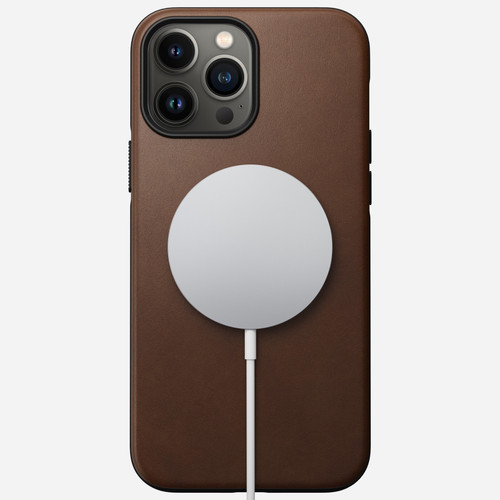 Modern Leather Case for iPhone 13 Pro Max - Rustic Brown