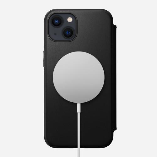Nomad Leather Folio case for iPhone 13 - Black
