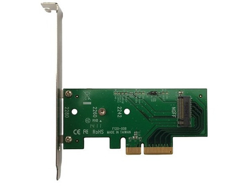 Lycom DT-120, PCIe 3.0 x4 Host Adapter for M.2 NGFF PCIe SSD installed in Main Board