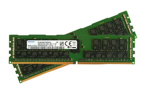 Samsung 64GB Kit (2x 32GB) DDR4-2666 DR x4 based PC4-21300 ECC Registered  288-pin RDIMM