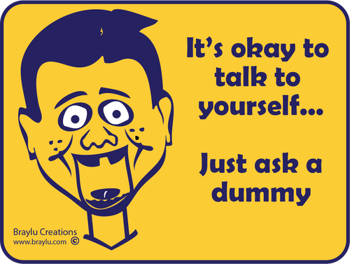 "Ventriloquist Sticker - ""Ask a dummy"""