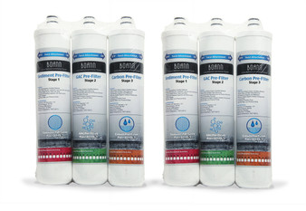BOANN RO-1YPK 6 Month Filter Pack for RO Water Filtration System with Sediment Pre-Filter, GAC Pre-Filter and Carbon Pre-Filter