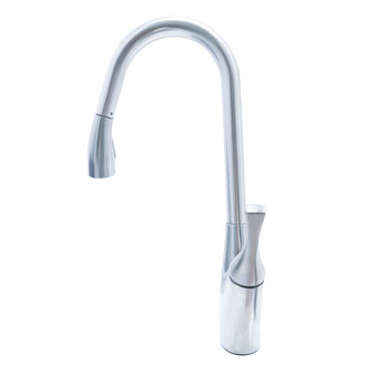 Dyconn Faucet TB1H24-BN Delaware Modern Pull Out Dual Spray Single Handle Kitchen Faucet