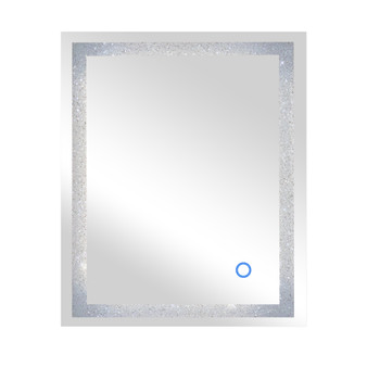 """Dyconn Faucet Edison Crystal LED Wall Mounted Backlit Vanity Bathroom Mirror with Touch On/Off/Dimmer & Anti-Fog Function (30"""" W X 36"""" H)"""