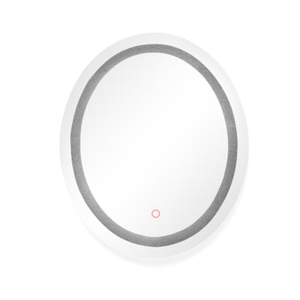 """Dyconn Faucet Edison Crystal Oval Round LED Wall Mounted Backlit Vanity Bathroom LED Mirror with Touch On/OFF Dimmer & Anti-Fog Function (30"""" W X 36"""" H)"""