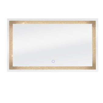"""Dyconn Faucet Edison Crystal LED Wall Mounted Backlit Vanity Bathroom Mirror with Touch On/Off/Dimmer & Anti-Fog Function (60""""W X 35""""H)"""