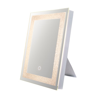 """Dyconn Faucet Edison Crystal LED Wall Mounted Backlit Vanity Bathroom LED Mirror with Touch On/OFF Dimmer & Anti-Fog Function (12""""WX16""""H/16""""WX12""""H)"""