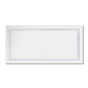 """Dyconn Faucet Edison Crystal LED Wall Mounted Backlit Vanity Bathroom Mirror with Touch On/Off/Dimmer & Anti-Fog Function (72""""W X 38""""H)"""