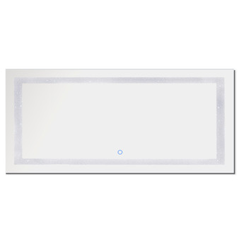 """Dyconn Faucet Edison Crystal Horizontal/Vertical Wall Mounted Backlit LED Bathroom Vanity Mirror with Touch ON/OFF/Dimmer & Anti-Fog Function (88""""W X 38""""H)"""