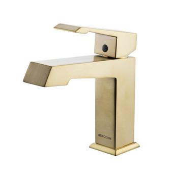 Dyconn Faucet VS1H39A-BR Cove Modern Single-Handle Bathroom/Vessel/Bar Vanity Faucet, Brass