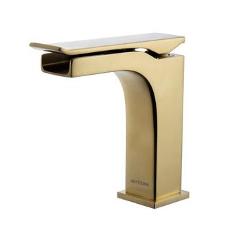 Dyconn Faucet VS1H28A-BR Kai Single-Handle Waterfall Vessel Bathroom Faucet, Brass